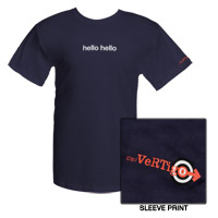 Navy Vertigo Hello Hello T-shirt