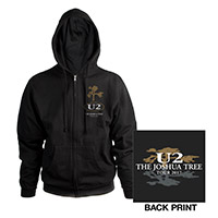The Joshua Tree Tour Unisex Full Zip Hooded Sweatshirt