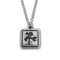 The Joshua Tree Square Silver Pendant