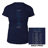 U2 eXPERIENCE + iNNOCENCE US Tour Navy Women's T-shirt