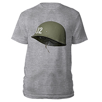 U2 Helmet Grey T-shirt