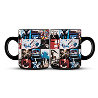 U2 Achtung Baby Album Cover Black Mug