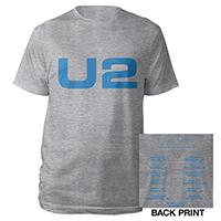 U2 eXPERIENCE + iNNOCENCE European Tour Grey Logo Unisex T-shirt