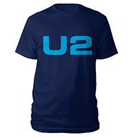 U2 eXPERIENCE + iNNOCENCE European Tour Navy Logo Unisex T-shirt