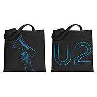 U2 eXPERIENCE + iNNOCENCE Megaphone Black Tote Bag