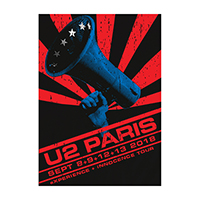 U2 eXPERIENCE + iNNOCENCE Paris Event Screenprint