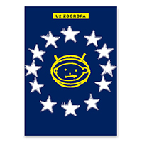 Limited Edition Blue Zooropa Screen Print