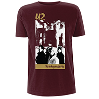 The Unforgettable Fire Burgundy T-shirt