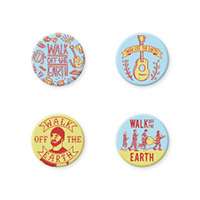 Walk Off The Earth 4PC Button Set