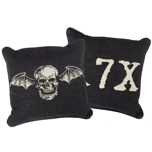 Deathbat Woven Pillow