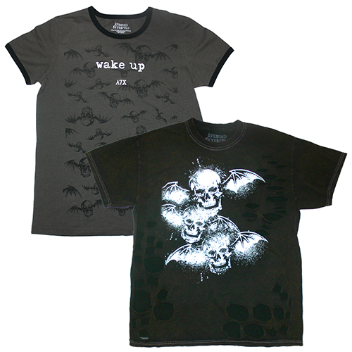 Deathbat Destroyed Shirt & Wake Up Ringer Tee