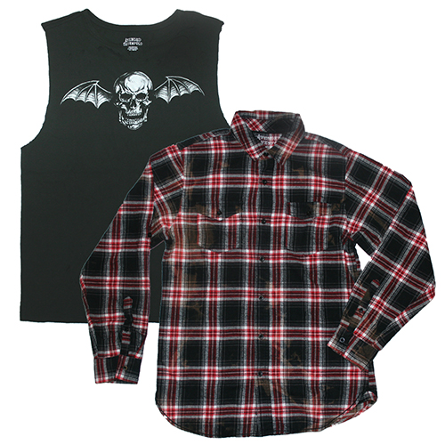 A7X Flannel & Destroyed Ladies Muscle Tee
