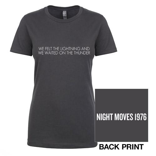 Night Moves Ladies Lyric Tee