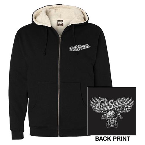 Bob Seger Motorcycle Eagle Sherpa Sweatshirt