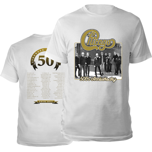 Chicago 50th Anniversary 2017 Tour Tee