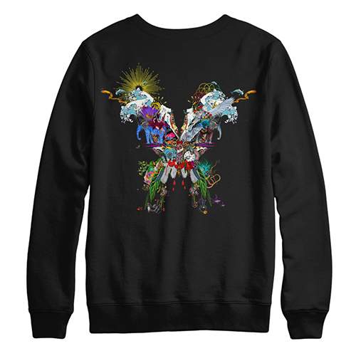 Butterfly Black Crewneck Sweatshirt