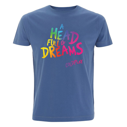 A Head Full Of Dreams Blue T-shirt