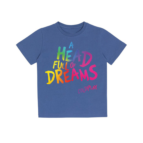 A Head Full Of Dreams Blue Kids T-shirt