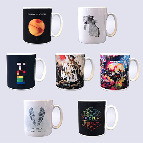 Set of Seven Album Cover Mugs
