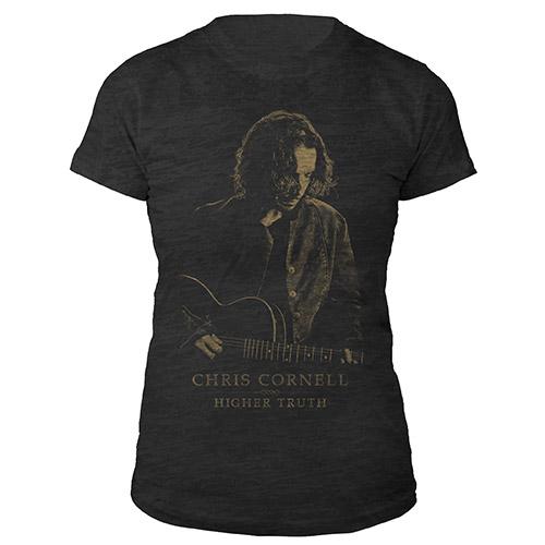 Chris Cornell Portrait Burnout T-shirt
