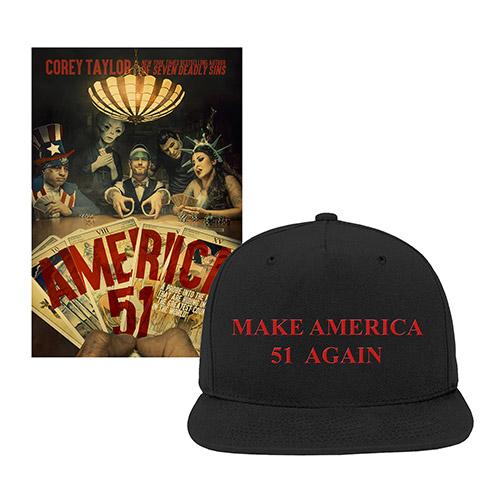 Corey Taylor Hat and Book Bundle