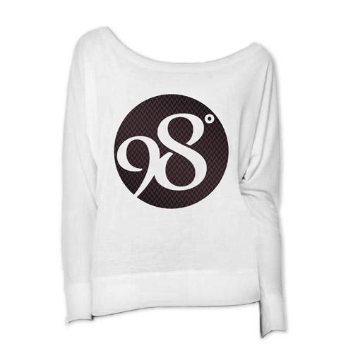Weave Logo Ladies Long Sleeve Scoop Neck