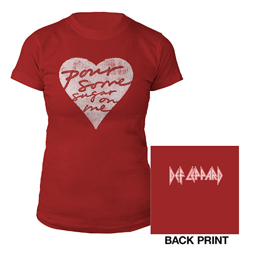 Pour Some Sugar On Me Red Ladies Tee