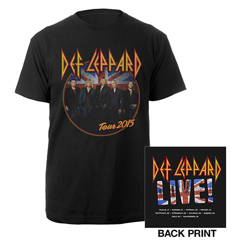 Def Leppard Photo/Itin Summer Black Tee