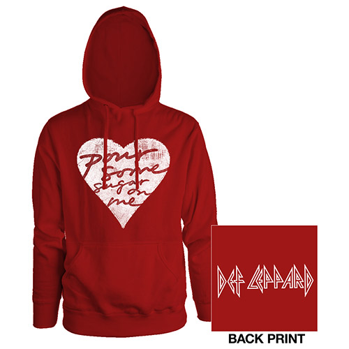 Pour Some Sugar On Me Red Ladies Pullover Hoodie