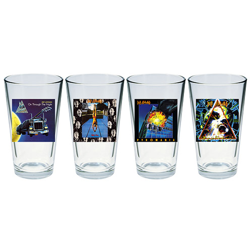 Album Art Four Piece Pint Glass Set