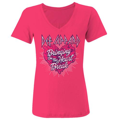 Bringing On The Heartbreak Ladies V-Neck Tee