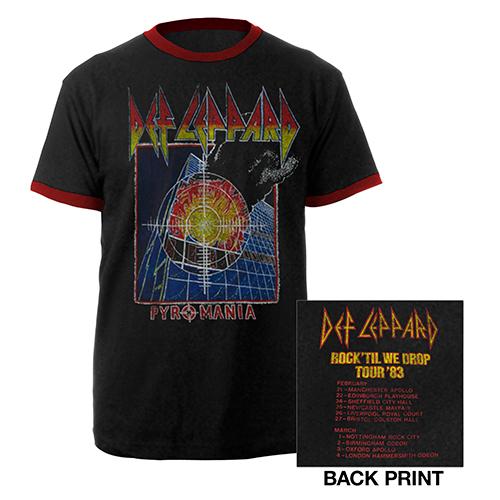 Pyromania Tour '83 Ringer Tee