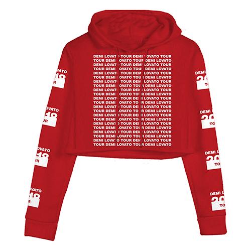 Red Crop Hoodie