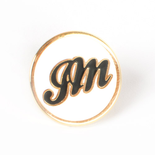 JM White Lapel Pin