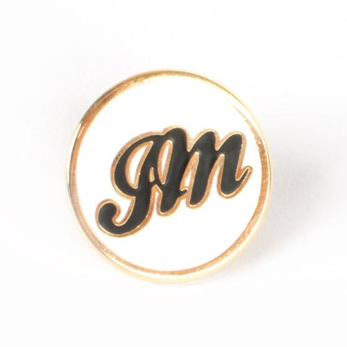 JM White Lapel Pin