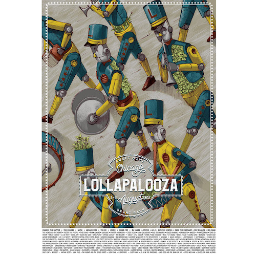 2017 Lollapalooza Commemorative Poster