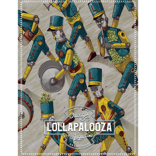 2017 Lollapalooza Signed & Numbered Poster