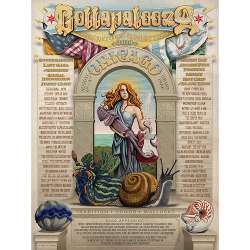 2010 Lollapalooza Commemorative Poster