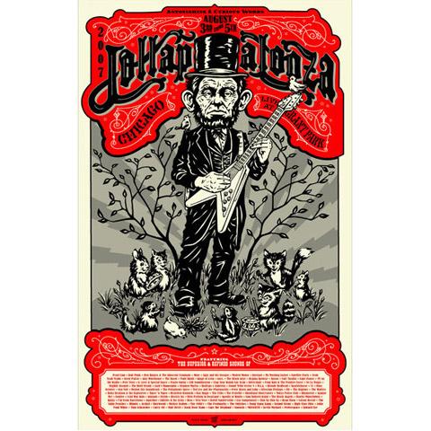 2007 Lollapalooza Commemorative Poster
