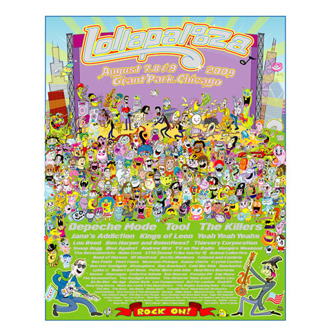 2009 Lollapalooza Commemorative Poster
