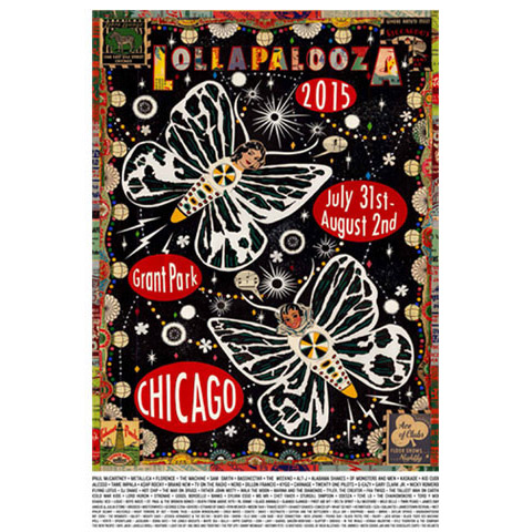 2015 Lollapalooza Poster Commemorative Edition