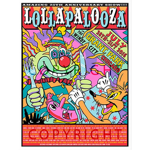 2016 Lollapalooza Poster Commemorative Edition