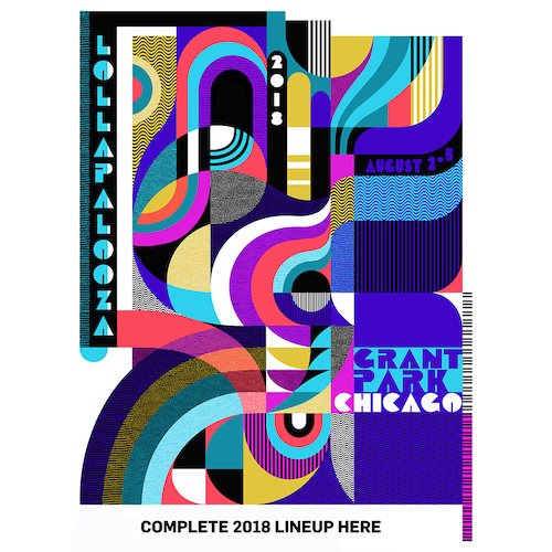 2018 Lollapalooza Commemorative Poster
