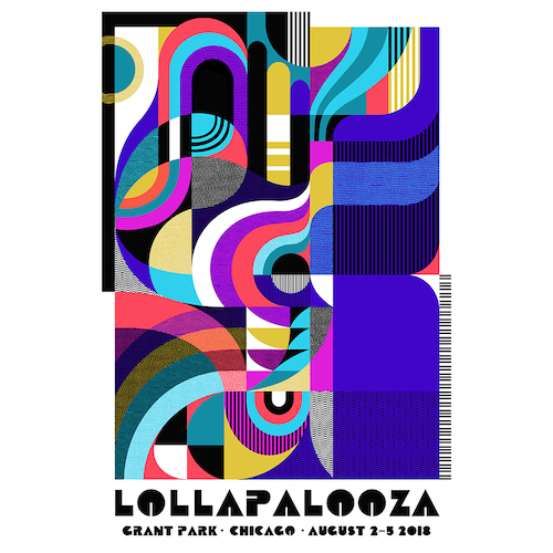 2018 Lollapalooza Signed & Numbered Poster