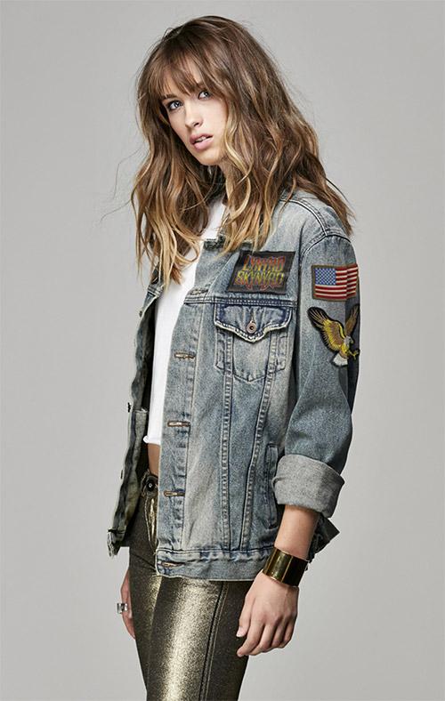 Lynyrd Skynyrd women's jean jacket