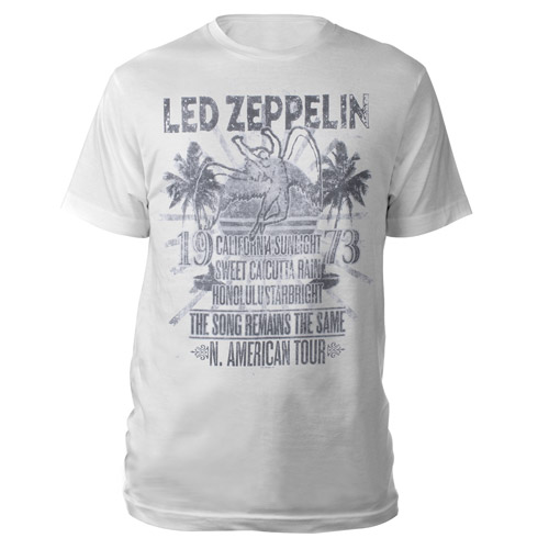 The Song Remains the Same Vintage White T-shirt