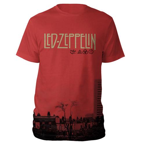 LED ZEPPELIN IV INNER SLEEVE RED T-SHIRT