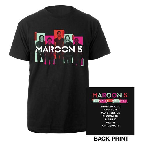 Maroon 5 Photo Blocks 2014 European Tour Tee