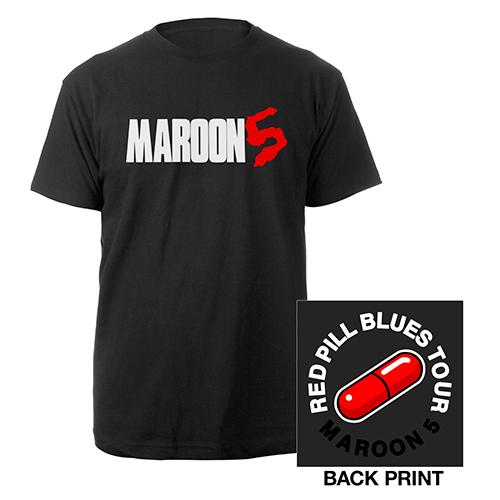 Maroon 5 Red Pill Blues Tour Logo Tee