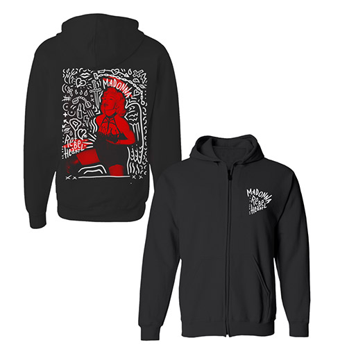 Rebel Heart Street Art Zip Hoody